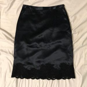 100% Silk Banana Republic Pencil Skirt